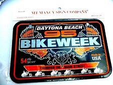 1995 54TH ANNUAL DAYTONA BEACH BIKEWEEK THUNDER ON MAIN STREET MINI CYCLE PLATE
