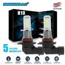9140 9145 H10 LED Fog Light Bulbs for 03-06 GMC Sierra 1500 2500 HD 6000K White