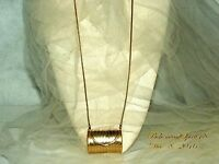 VINTAGE AMAZING RETRO MINIATURE GOLD ETCHED METAL REAL PURSE NECKLACE