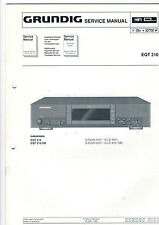 Grundig Service Anleitung Manual EQT 210   B385