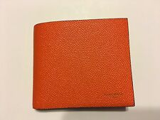 NEW GIVENCHY Men's classic orange eros bifold wallet Made in ITALY