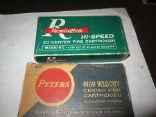 2 Vintage Remington Hi-Speed Peters 30-30 Winchester Empty Boxes