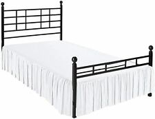 Dust Ruffle Bed Skirt With Split Corners 3 Sides Coverage 100% Cotton White
