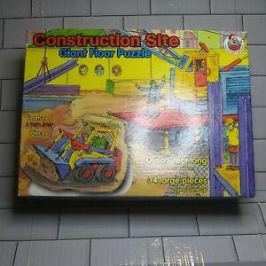 """Frank Schaffer Publications""""Construction Site"""" Giant Floor Puzzle, 34 Piece"""