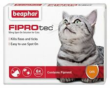 Beaphar FIPROTEC Flea Spot On Treatment For Cats 1,3 & 6 Pipettes