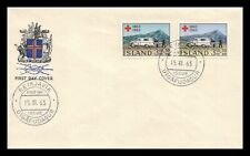 Iceland 1963 FDC, Centenary of the Red Cross. Lot # 12.