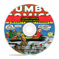 Jumbo Comics, Fiction House, 127 Issues, Vintage Golden Age Comics PDF DVD C80