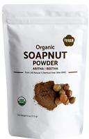 Organic Soapnut Powder | Aritha | Reetha | 4,8 oz | Natural Hair-Skin Cleanser