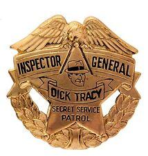 """DICK TRACY INSPECTOR GENERAL"" HIGH GRADE, HIGH RANK 1938 PREMIUM LARGE BADGE."