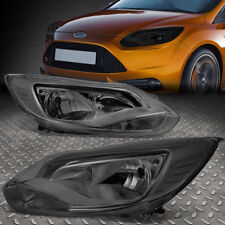 FOR 2012-2014 FORD FOCUS GEN3 PAIR SMOKED HOUSING CLEAR CORNER HEADLIGHT/LAMP