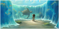 Disney Fine Art Limited Edition Canvas Moana's New Friend-Rob Kaz