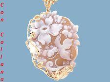 Ciondolo cammeo argento 925 rosè cameo sardonico xc artigianato Torre del Greco