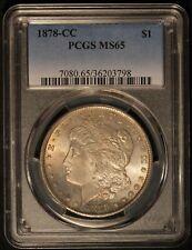 1878-CC US Morgan Silver Dollar - Attractive Toning - PCGS MS 65 - Free Ship US