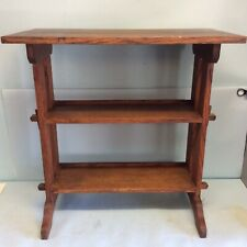 Roycroft Journey Stand, Oak Bookcase Table
