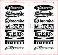adesivi stickers per moto sponsor tecnici carena cross auto tuning motocross #