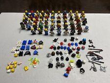 52 LEGO MINIFIGURES LOT FIGURES; PARTS WEAPONS HATS CAPS STAR WARS NASCAR