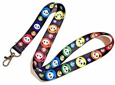 KAWAII RAINBOW PANDA LANYARD cute bear japan key ring neck strap ID holder 4V