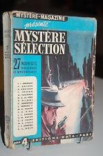 Mystère-Magazine 27 Nouvelles policières et Mystérieuses série 4 OPTA 1948