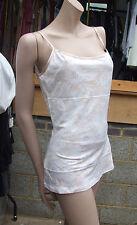 BNWT Yummie Tummie Marvellous Shaping Peach/White Lace Tank Top sz M Dual Fabric