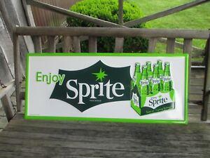 """Sprite 24 Gauge Steel Sign Green Enjoy Sprite 36"""" x 15"""" 6 Pack Carton"""