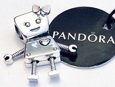 Authentic PANDORA BELLA BOT Charm W/ Pandora TAG & HINGED BOX #797141EN160