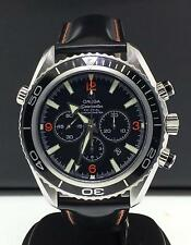 Omega Seamaster Planet Ocean 40mm Chronograph Black Strap Black Dial Date