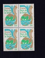 FRANCE  1975  S G  2088   1F   15      VALUE  BLOCK OF 4  MNH  NO F469