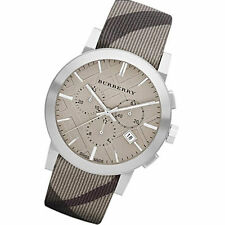 Burberry BU9358 The City Swiss Chronograph Smoked Check Strap Men's Watch
