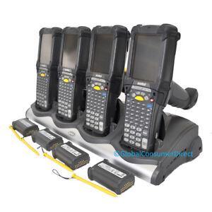LOT of 4x Refurb Motorola MC9090G MC9090-GF0HBEGA2WW CE5 Barcode Scanner +CRADLE