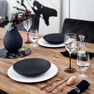 Villeroy & Boch Manufacture Rock Porcelain Dining Set Collection in Sets of 6