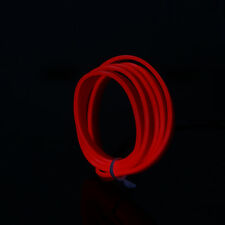 1-5M Neon LED Light Glow EL Wire String Rope Tube Soft Strip W/ Controller