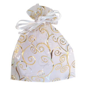 50 Party Favor Gift Bags, Goody Bags, Wedding-Baby Shower Bags, Jewelry Pouches