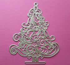 Die cutting - matrice de coupe - swirly christmas tree - arbre sapin Noel 1