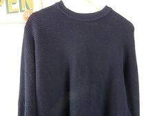 CARLO COLUCCI vintage mans cotton blend chunky ribbed  jumper size XL PB90