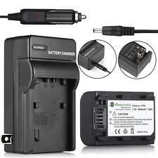 NP-FH50 Batteriy + Charger For Sony NP-FH40 DSC-HX1 HX100V DSLR A230 A330