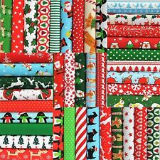"""CHRISTMAS FABRIC PATCHWORK SQUARES CHOOSE  4"""" 5"""" 6""""  10"""" SEWING POLY COTTON"""