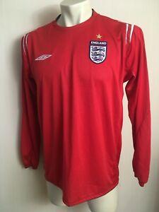 England national team Away Shirt 2004 - 2006 Umbro original red long sleeve