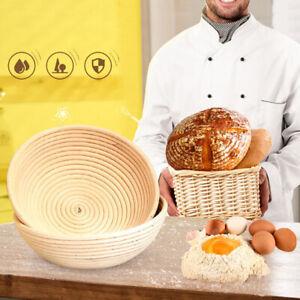 BL_ AU_ CW_ Rattan Woven Bread Fermentation Baking Storage Basket Dough Proofing