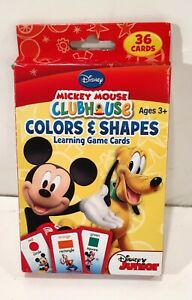 Disney Card Games Mickey Mouse Colors and Shapes learning cards
