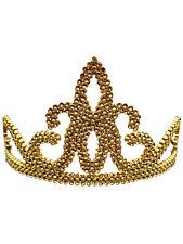 Tiara Gold Princess Crown Fancy Dress Queen Fairytale Girls Womens Kids Angles