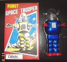 Robby the Robot Space Trooper by TINTOM TOY version Toy Windup Blue MINT IN BOX!