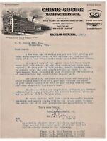 GRAPHIC COLOR 1913 KANSAS CITY MISSOURI LETTERHEAD CARNIE GOUDIE MANUFACTURING