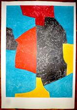 POLIAKOFF Serge Lithographie Sorlier Mourlot Art Abstrait école de Paris Russe