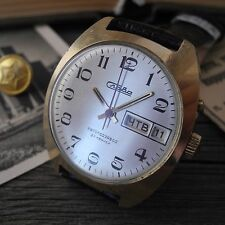 Vintage Soviet Slava Automatic Gold Plated USSR Men's Watch Serviced
