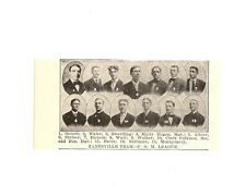 Zanesville  1907 Team Picture Baseball Buzzy Wares Ed Walker P.O.M. League