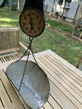 New ListingAntique Hanson Produce Hardware Hanging Scale with Scoop 20 lbs. 33 Serial C