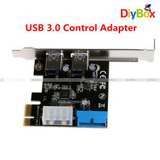 PCI Express USB 3.0 2 Ports Front Panel with Control Adapter Card 4-Pin & 20 Pin