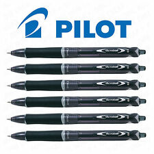 6 x Pilot acroball retrattile penna a sfera medium 1.0mm BLACK INK