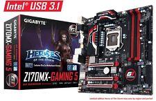 Gigabyte Z170MX-GAMING 5 Motherboard, LGA 1151, DDR4, USB3.1, Intel Z170, M.2