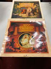 JRR TOLKIEN 1977 & 1978 CALENDAR the BROTHERS HILDEBRANDT-1st Edition 1976 , Ok